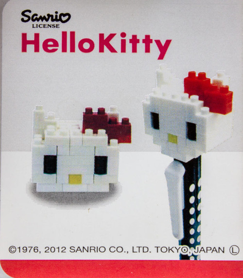 Nanoblock Hello Kitty Ballpoint Pen KT245 Kawada Japan Nano Mini Figure JAPAN