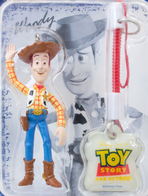 Disney Pixar Toy Story Woody Figure Mobile Cleaner Keychain RUN'A JAPAN