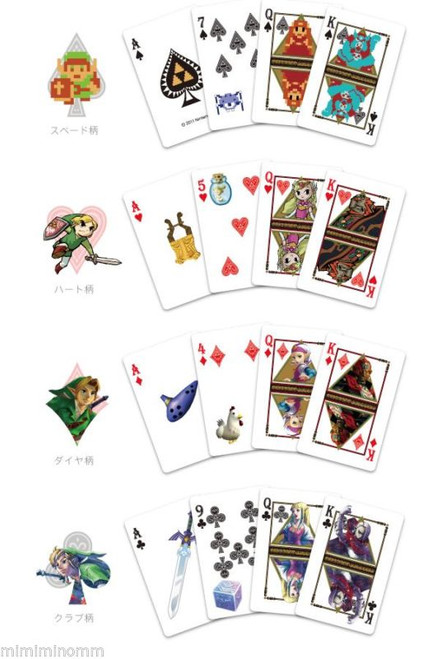 The Legend of Zelda Trump Playing Cards Nintendo JAPAN GAME FAMICOM NES