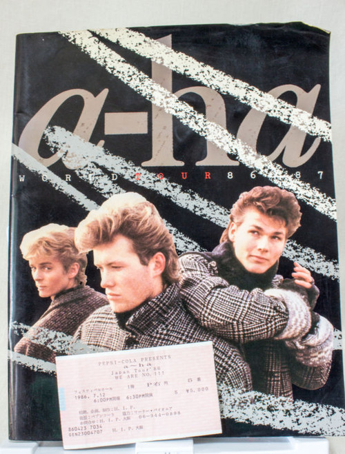 A-ha World Tour 1986-87 Concert Live Program Book Japan edition w/Ticket