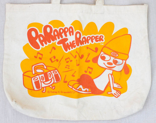 RARE! Parappa The Rapper Tote Carry Bag JAPAN GAME ANIME