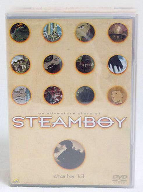 STEAMBOY Starter Kit Set Of DVD T-shirt Sticker Katsuhiro Otomo JAPAN ANIME