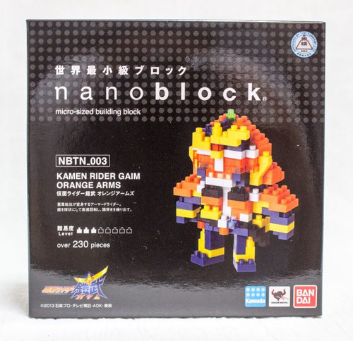 Kamen Rider Gaim Orange Arms Kawada Nanoblock Nano Block NBTN-003 JAPAN Figure