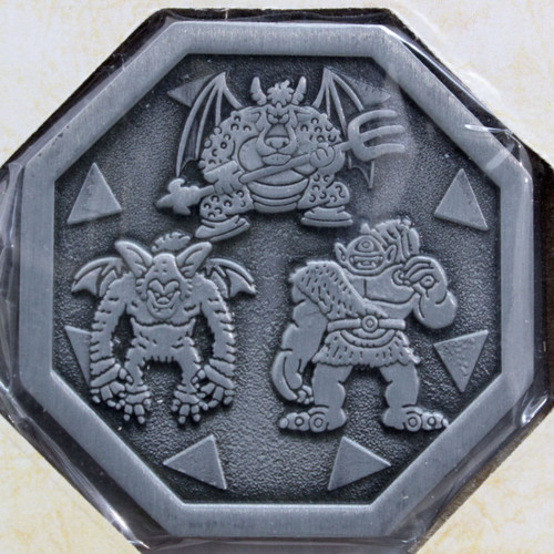 Dragon Quest Boss Coin Three Monsters +Drawstring Bag SQUARE ENIX JAPAN WARRIOR