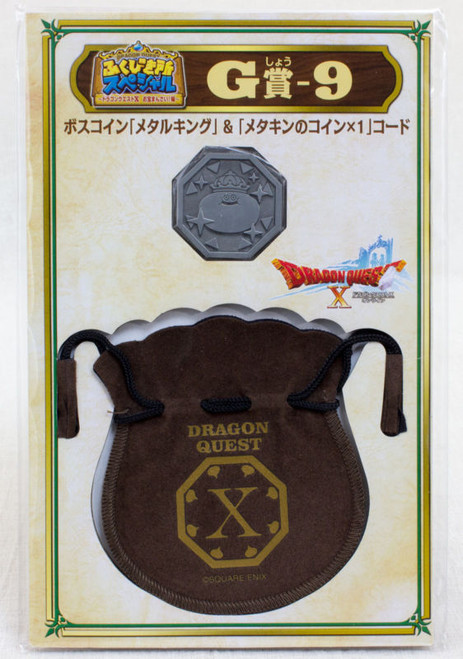 Dragon Quest Boss Coin Metal King Slime+Drawstring Bag SQUARE ENIX JAPAN WARRIOR