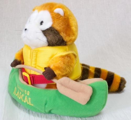 Rascal the Raccoon w/ Canoe Hokkaido Limited Plush Doll Figure JAPAN ANIME MANGA