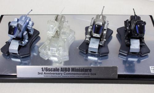 1/6 Scale AIBO Miniature Figure 3rd Annniversaru Commemorative Box Kaiyodo JAPAN