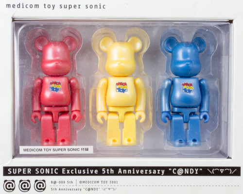Medicom Toy Super Sonic Exclusive 5th Anniversary C@andy 100% Bearbrick JAPAN