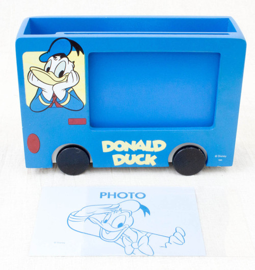 Disney Donald Duck Wooden Bus Photo Frame