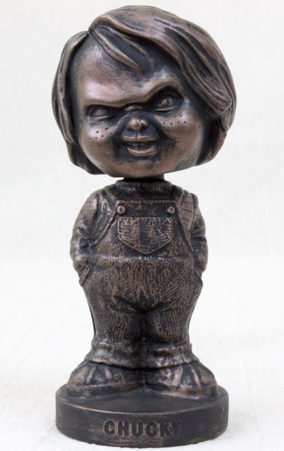Child's Play 2 Chucky Bronze Statue Type Bobble Head Figure Mike Company JAPAN