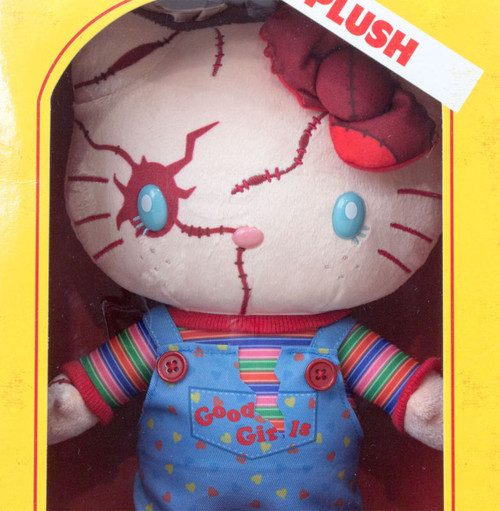 "Hello Kitty x Chucky Child's Play 2 Plush Doll 11"" Sanrio USJ JAPAN Limited"