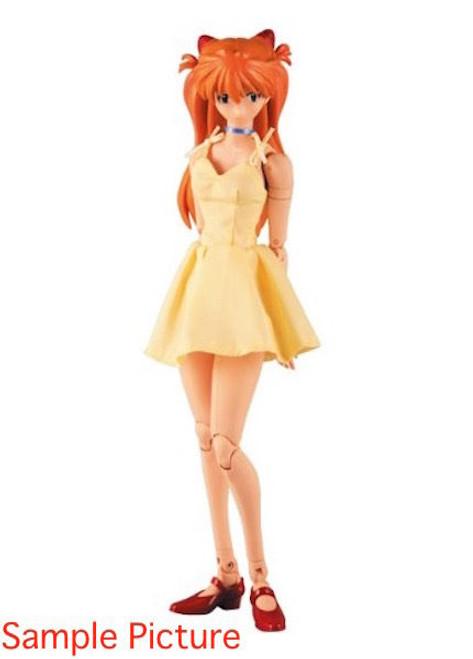 Evangelion Asuka Langley Yellow one‐piece dress Figure RAH Medicom Toy JAPAN ANIME