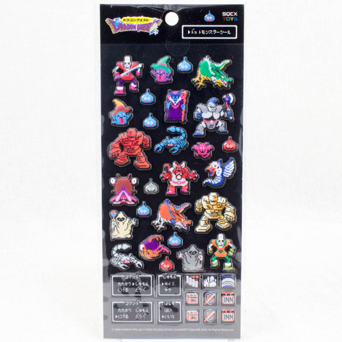Dragon Quest Dot Monsters Sticker Sheet SQUARE ENIX JAPAN ANIME GAME