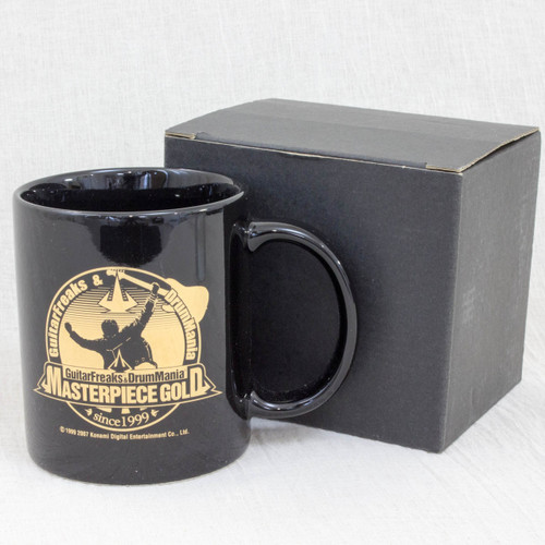 Guitar Freaks & Drum Mania Masterpiece Gold Mug Black JAPAN GAME