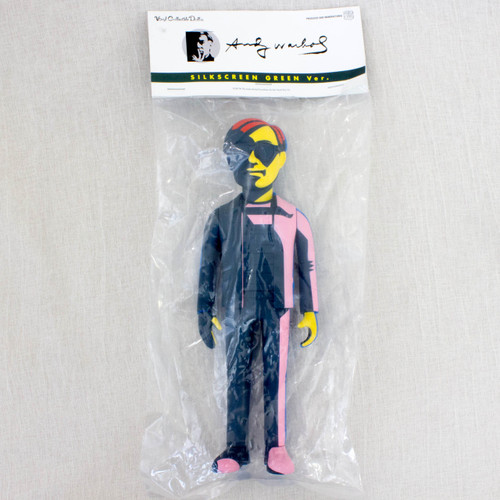 Andy Warhol Vinyl Silkscreen Green Ver. Figure Medicom Toy VCD JAPAN