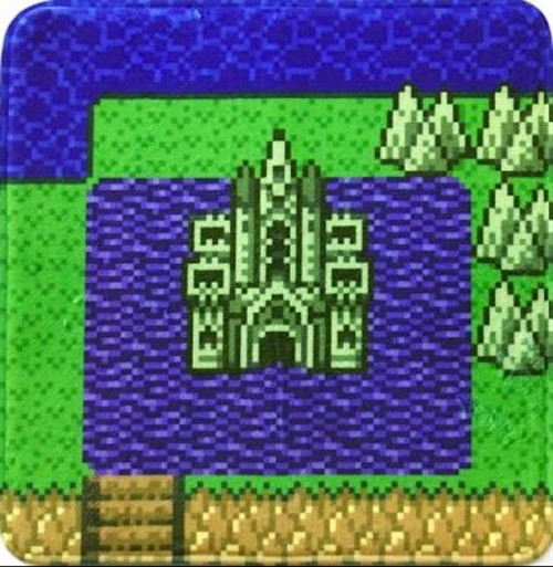 Dragon Quest Floor Mat Dot Dragonlord Castle Ryuoh JAPAN GAME WARRIOR