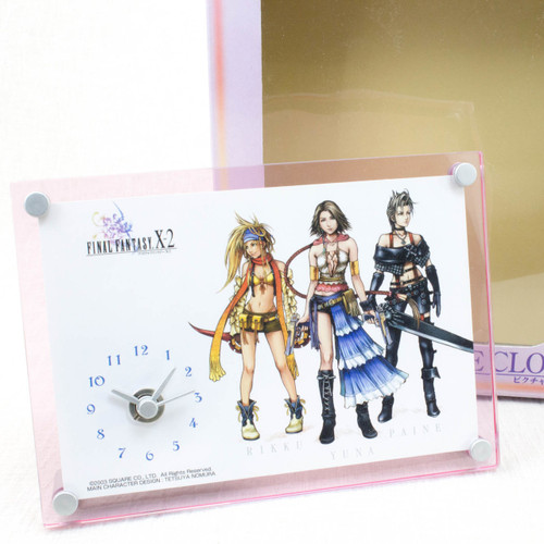 Final Fantasy X-2 Picture Clock Yuna Rikku Paine JAPAN ANIME GAME SQUARE ENIX