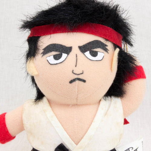 {Damaged} Street Fighter 2 Ryu Plush Doll Figure Capcom Character JAPAN GAME