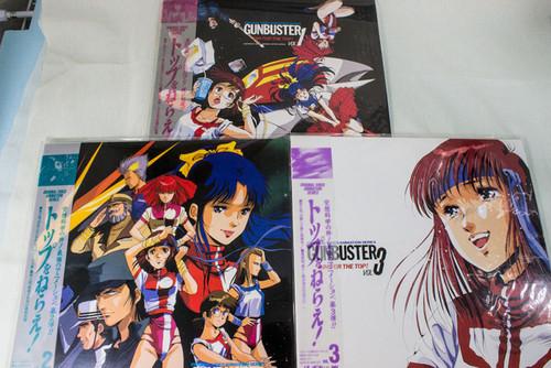 Set of 3 Gunbuster Aim For the Top Laser disc LD JAPAN ANIME MANGA