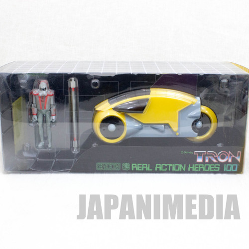TRON Real Action Heroes Figure Soldier & Light Cycle Yellow Set C Medicom Toy