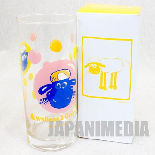 Wallace & Gromit Glass Yellow ver. Sumitomo Life Novelty JAPAN Ardman ANIME