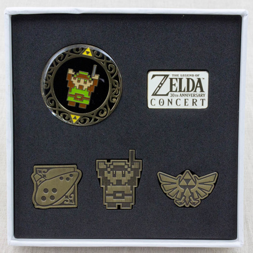 Legend of Zelda 30th Anniversary Concert Limited Pins Set JAPAN NINTENDO