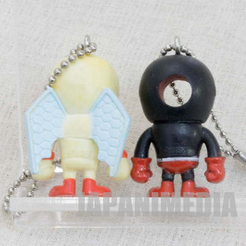 KINNIKUMAN Blackhole + Pentagon Set Panson Works Mini Figure Ballchain JAPAN