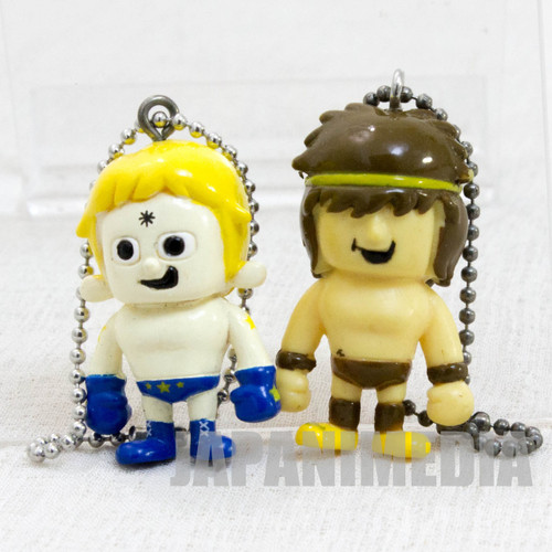 KINNIKUMAN Terryman + Geronimo Set Panson Works Mini Figure Ballchain JAPAN