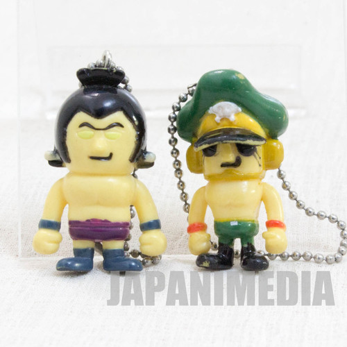 KINNIKUMAN Rikishiman + Brocken Jr Set Panson Works Mini Figure Ballchain JAPAN