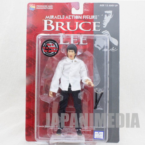 BRUCE LEE Miracle Action Figure White Clothes Medicom Toy JAPAN KUNG FU MOVIE