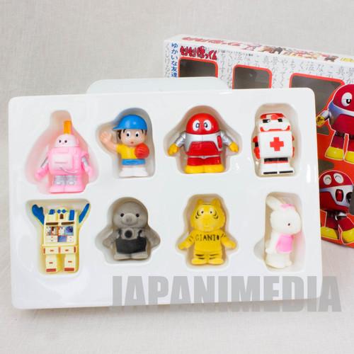 RARE! Morimori Bokkun Friendship 8pc Mini Figure Set BANDAI 1986 JAPAN