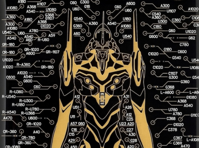 Evangelion FLASH iPhone case drawn with 140,000 lines