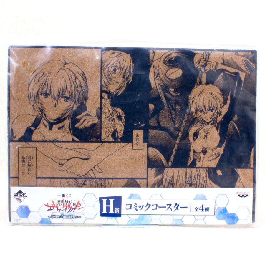 Evangelion Comic Cork Coaster Set Rei Ayanami Ver