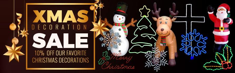 Save 10% on Christmas Lights & Decor!