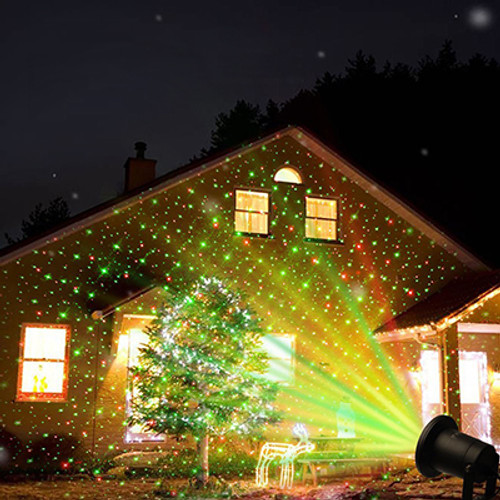 landscape stars laser display light show lighting snowfall pd a night projector christmas