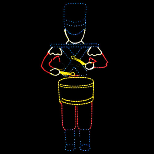 6 foot animated multi color led rope light drumming toy soldier 6 foot animated multi color led rope light drumming toy soldier motif aloadofball Images