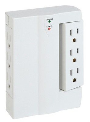 Indoor Side Socket Surge Protector - 120 Volt