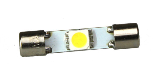 1 LED 12 Volt Cool White Festoon Bulb (110deg)