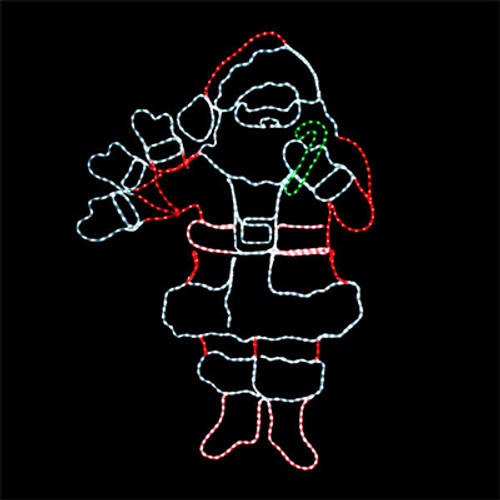 6 foot animated multi color led rope light waving santa motif 6 foot animated multi color led rope light waving santa motif aloadofball Gallery