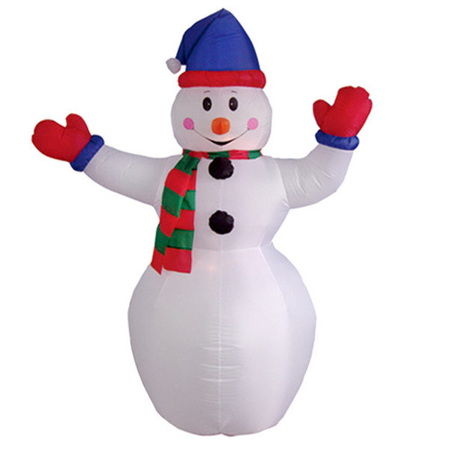 6 Foot Snowman with Red Gloves LED Christmas Inflatable