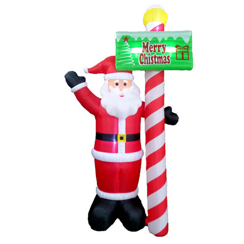 13 Foot Santa with Sign LED Christmas Inflatable