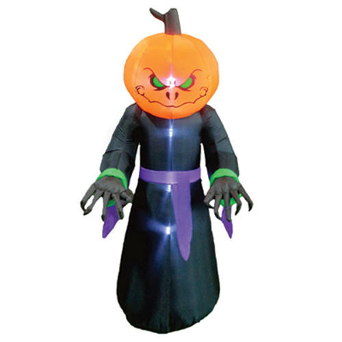 8 Foot Scary Pumpkin Monster LED Halloween Inflatable