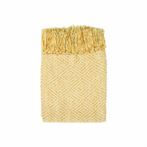 In 2 Linen Stanford Chenille Throw Rug | Saffron Yellow
