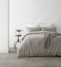 In 2 Linen Vintage Washed King Bed Quilt Cover Set | Linen