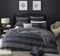 Private Collection Benson Navy Super King Quilt Cover Set