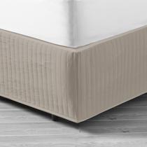 In 2 Linen Queen Bed Quilted Valance - Linen