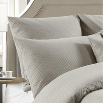 Perle Zeus Quilted European Pillowcase | Linen