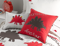 Whimsy Kids Stegosaurus Rectangle Filled Cushion