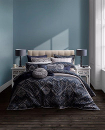 Private Collection Baraz Ink Queen Bed Quilt Cover Set