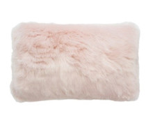 Bambury Faux Fur Oblong Cushion - Rosewater Pink